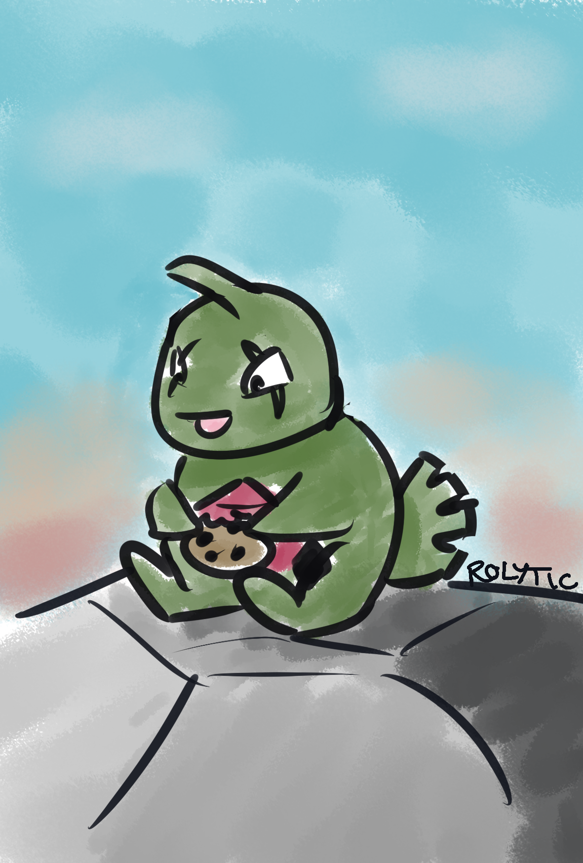Day 05 - Favorite Ground-type: Larvitar! by Rolytic