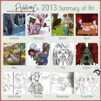 Art Summary 2013 by magic-boots