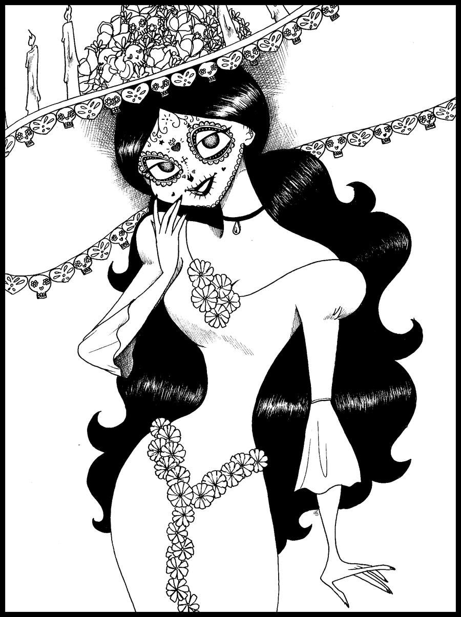 la santa muerte coloring pages - photo #46