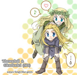 Thranduil and Glorfindel by bye1234