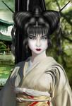 Geisha Warrior Close-up by Pretty-in-Pixels