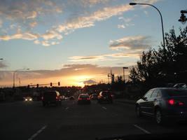 red light sunset