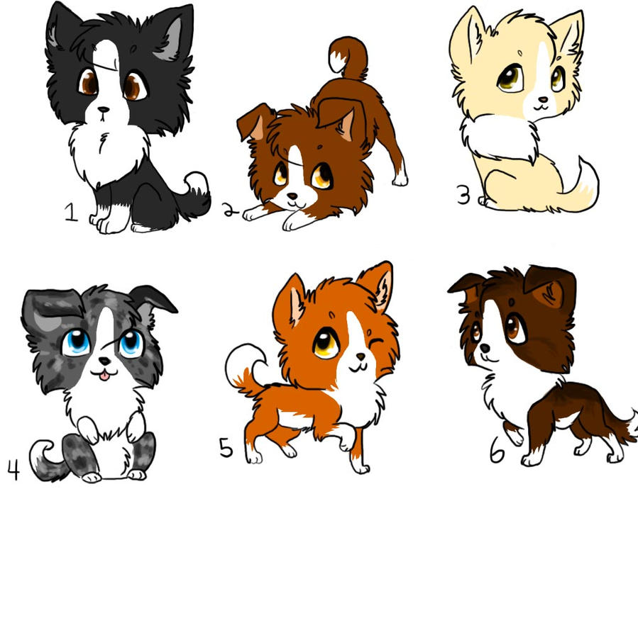 chibi border collie draw to adopts open by frostedcanid