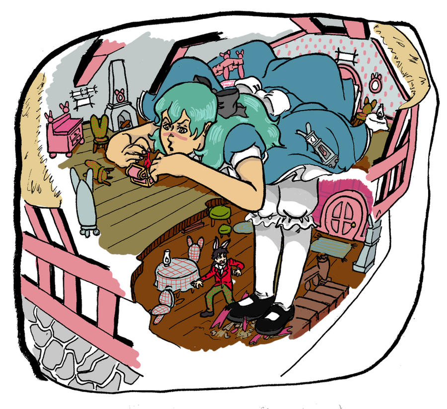 Nel in Wonderland color by Molotav