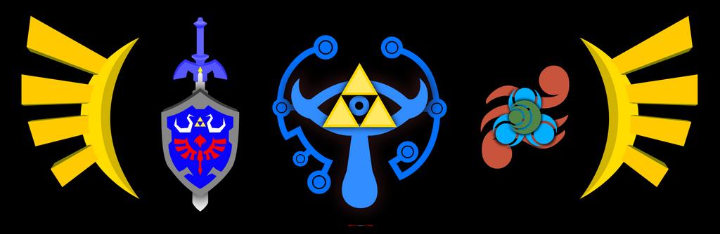 Vector Art of Zelda symbols by likwidsage on DeviantArt