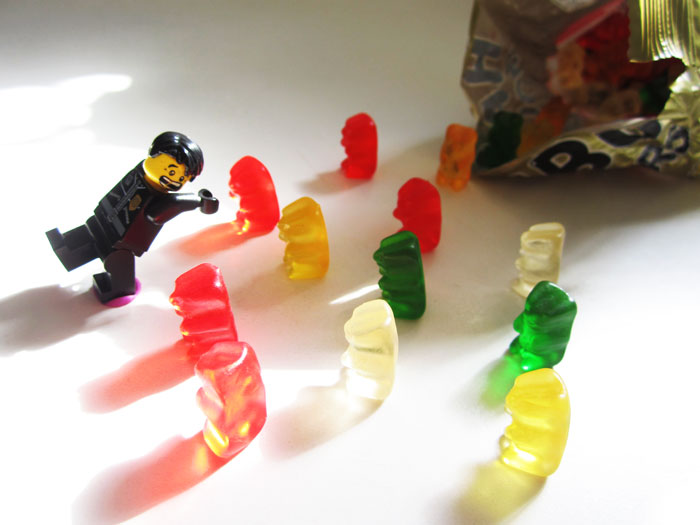 When the gummy bears attack! by golemdude