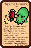 Home-Made Munchkin Cards - Bribe the Monster by nathangignac