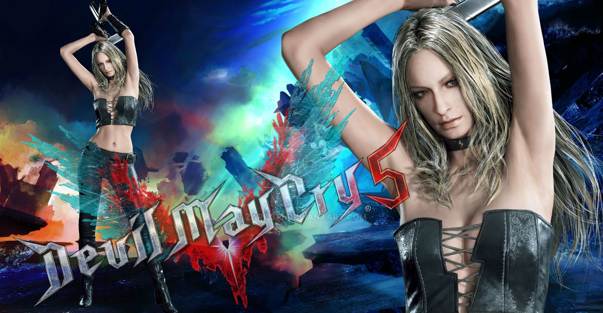 Lady versus Trish by cosplayerotica on DeviantArt