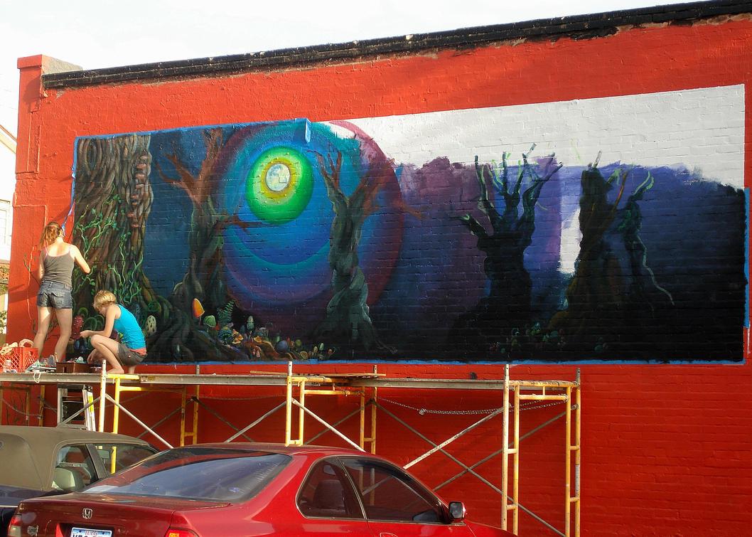 image gallery trippy murals