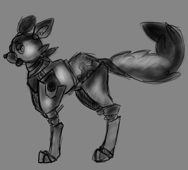 Robot fox by Dream-Yaoi