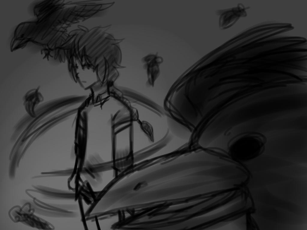 Crow Men Sketch by Dream-Yaoi
