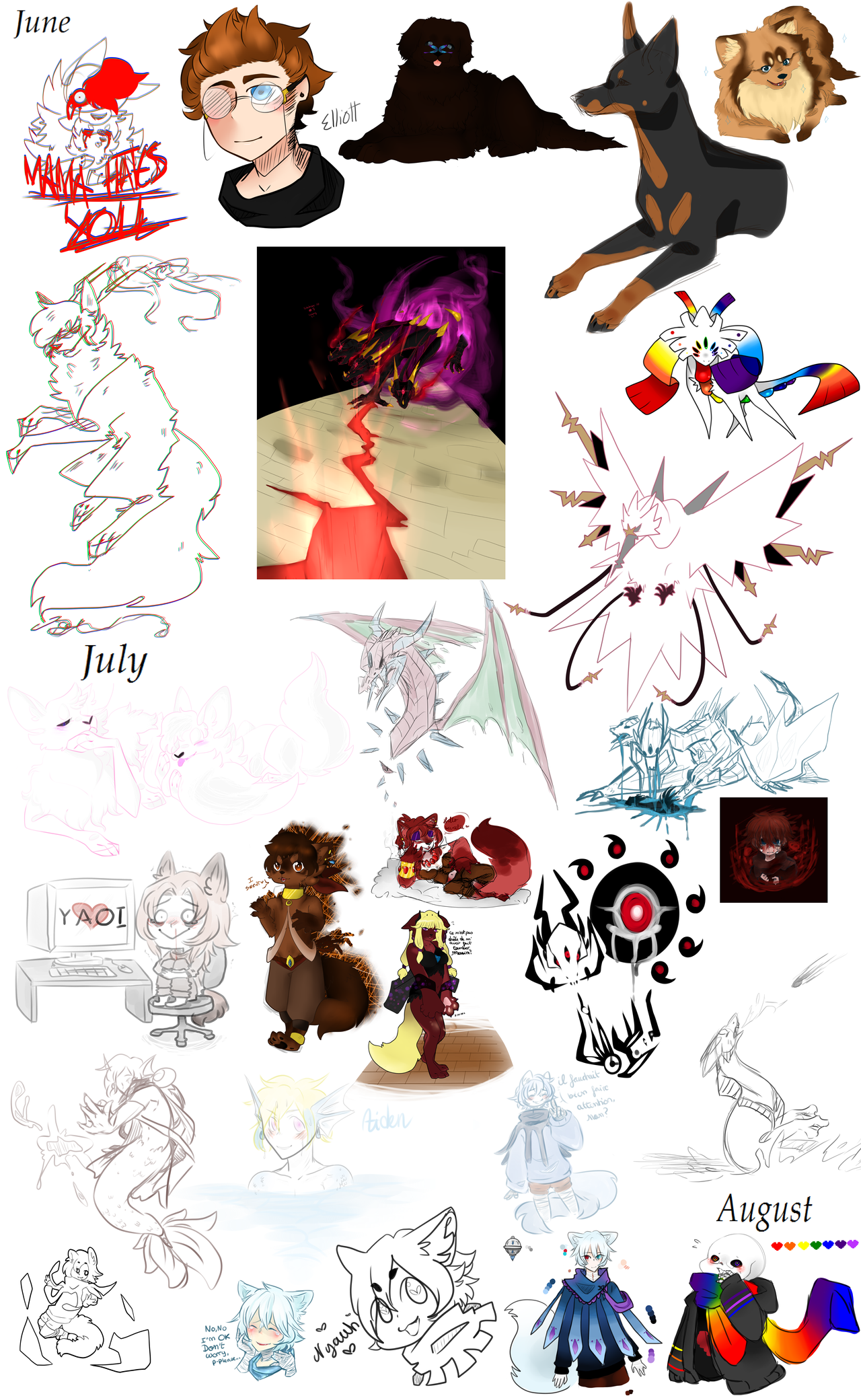 Sketch dump #6 by Dream-Yaoi