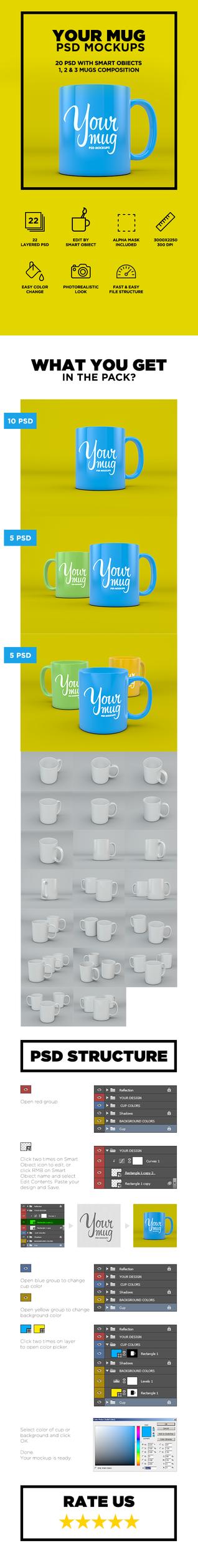 Your Mug - PSD Mockup by coloformia