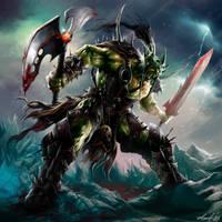 WOW fanart: Orc Death Knight