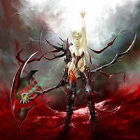 WOW fanart: Blood Elf DK by dwinbotp
