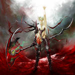 WOW fanart: Blood Elf DK