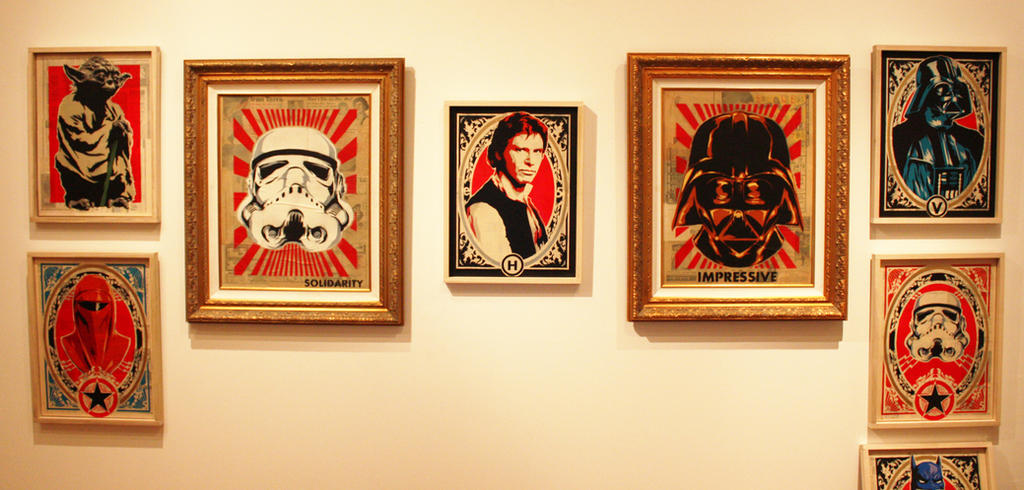 Wall of Star Wars for the fake opening. by epyon5 on DeviantArt