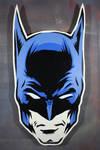 Batman on cut wood