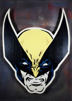 Wolverine on cut wood