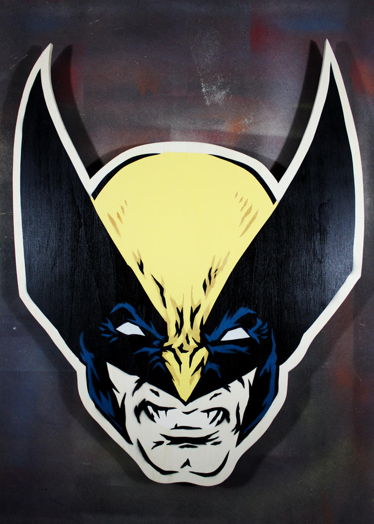 Wolverine on cut wood by epyon5