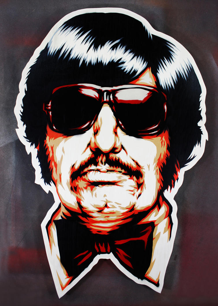 Tony Clifton on cut wood by epyon5