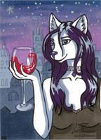 Fine wine (ACEO) by Woodswallow