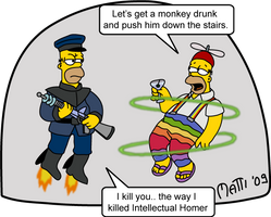 Fun Homer vs. Serious Homer