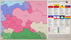 Panslavic Federation of Central Europe (SPF) Map