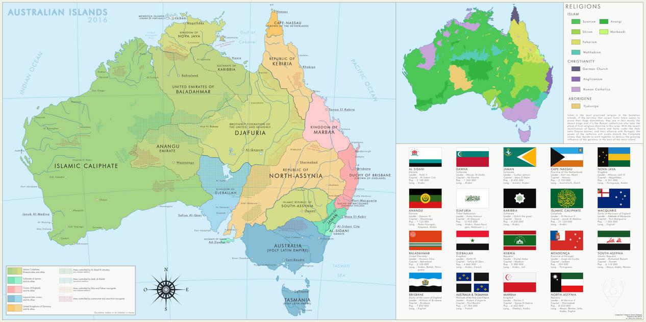 Map Of Australia 2016.Australian Islands 2016 By Imdeadpanda On Deviantart