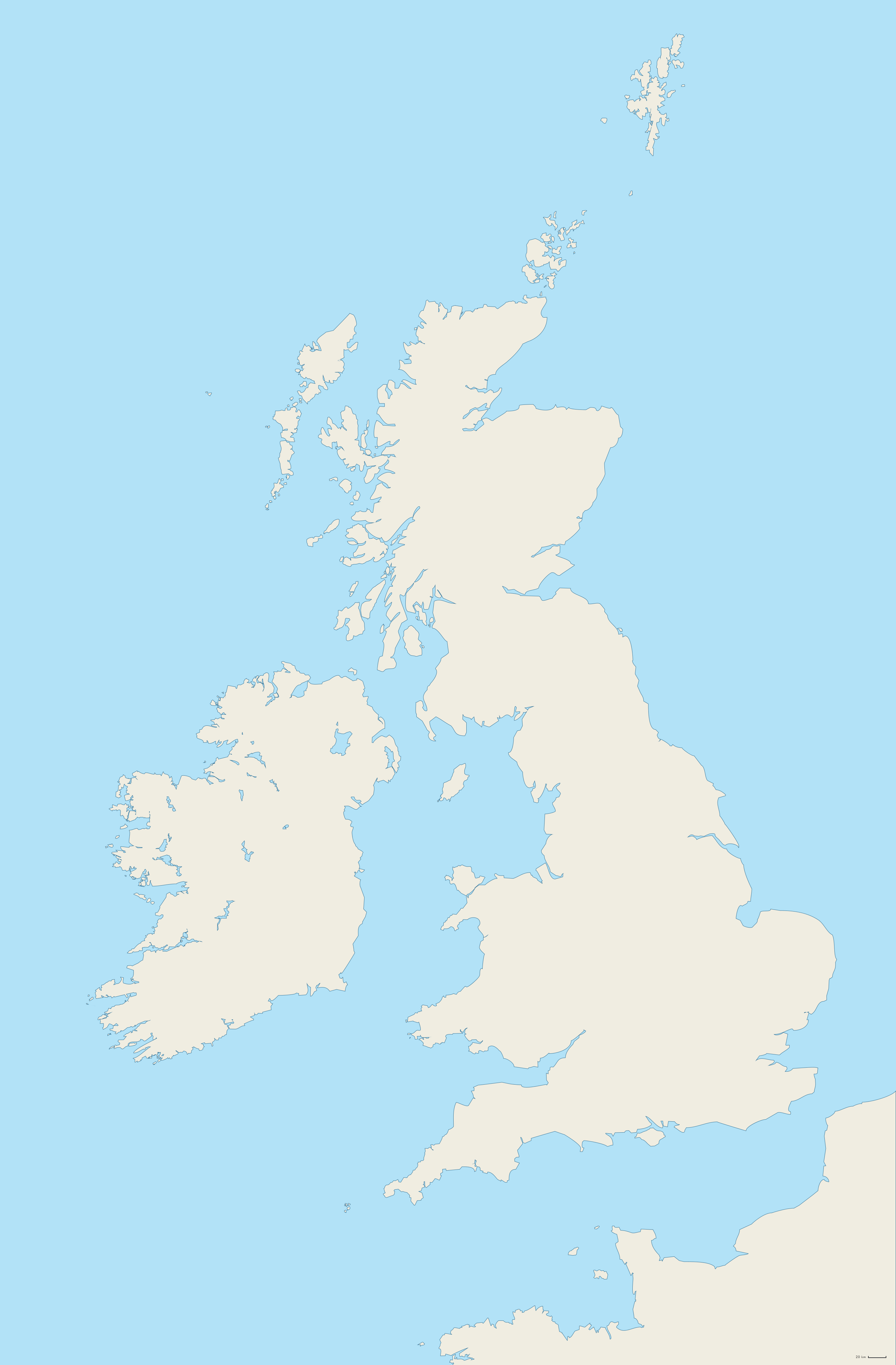 Blank Map of the British Isles Collection by ImDeadPanda