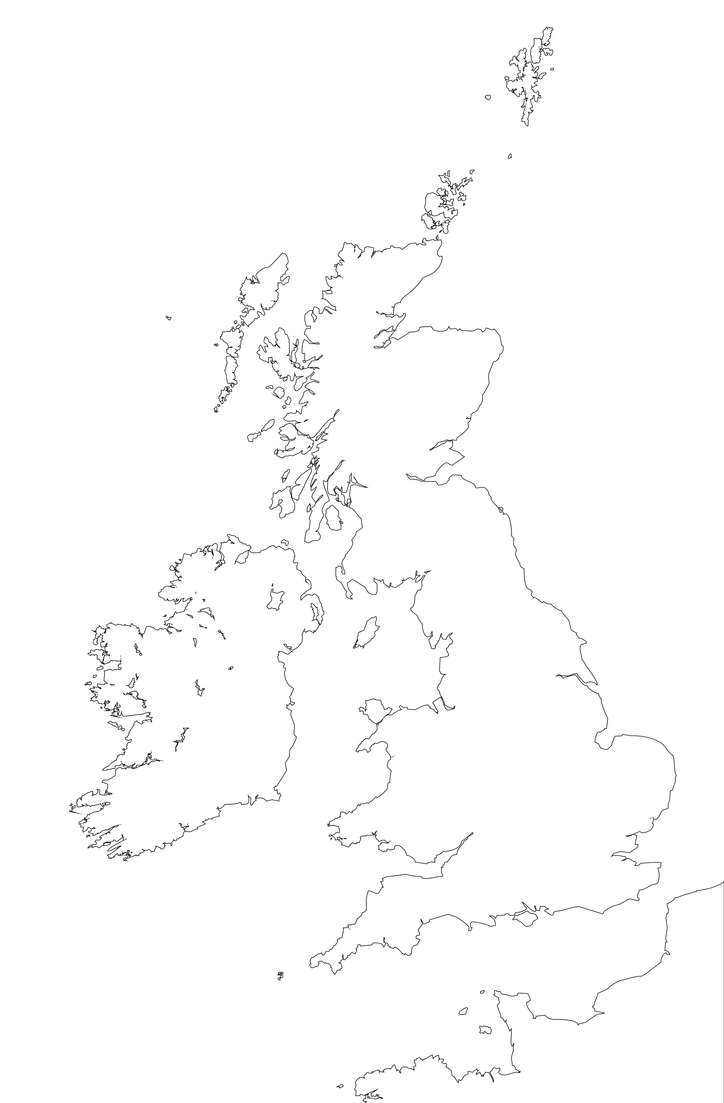 outline of british isles