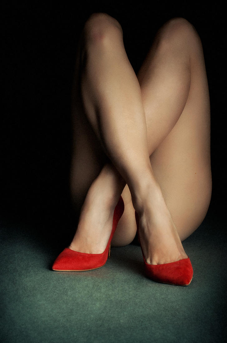 Beautiful legs in red shoes by Boas73
