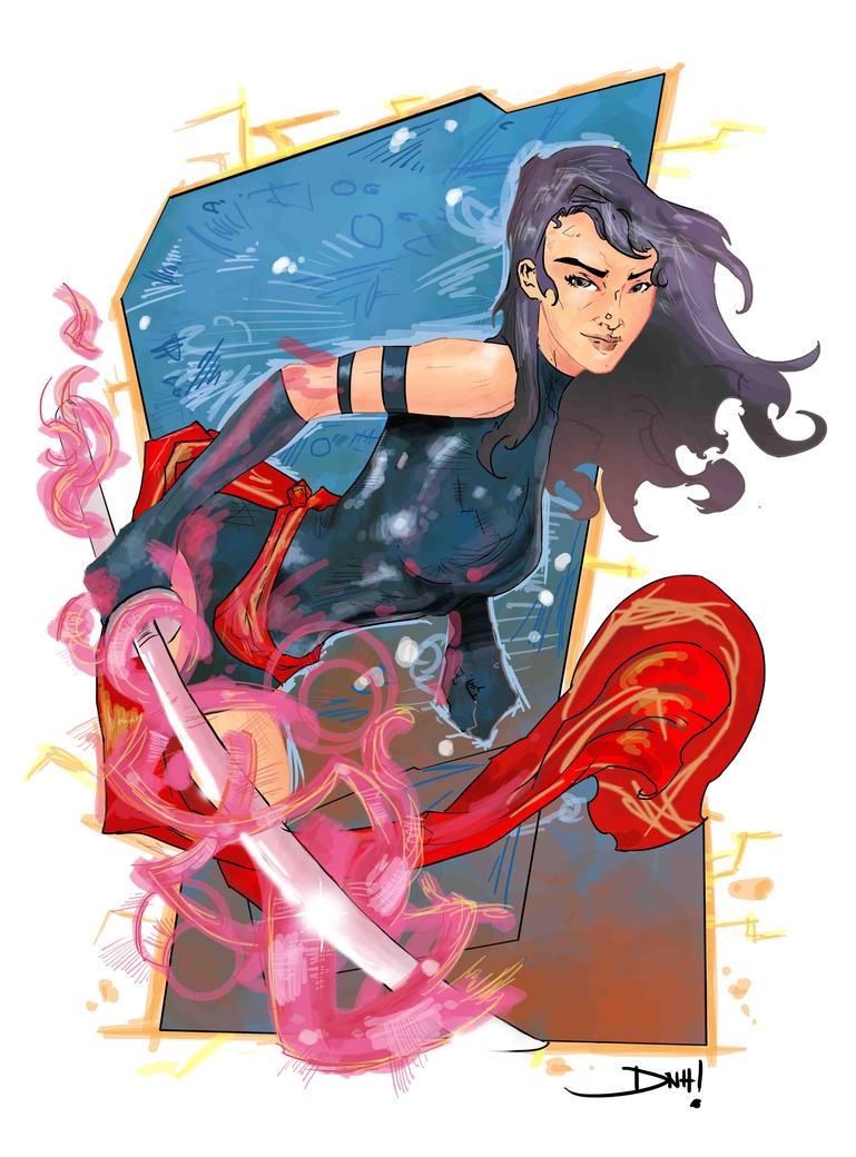 Psylocke by Huftness