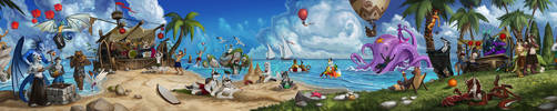 SUMMER BEACH PARTY by jeflint
