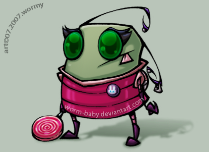 devID: Invader Wormy by worm-baby
