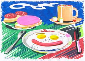 Per aspera ad astra (Breakfast of Champions) by sonsunbl4