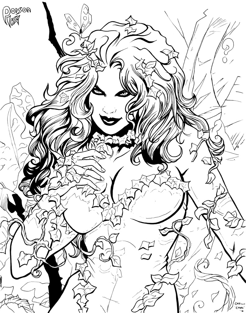 how to draw ivy coloring