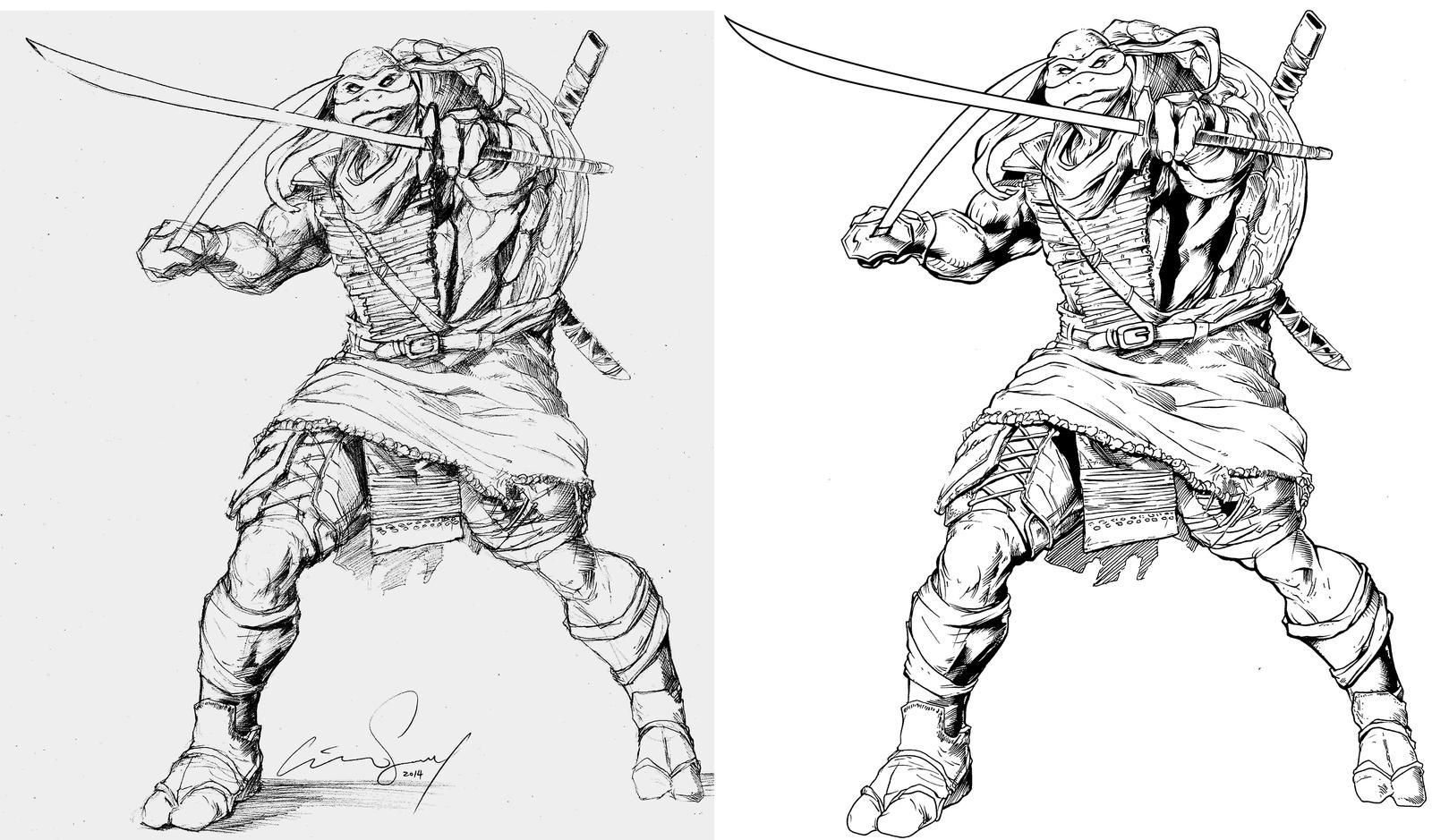 leonardo teenage mutant ninja turtles coloring pages leonardo of the teenage mutant ninja turtles by cadre on