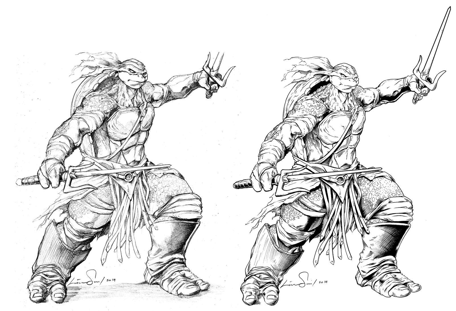Raphael of the teenage mutant ninja turtles by cadre on for Raphael ninja turtle coloring pages