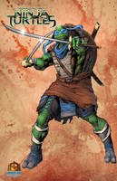 Leonardo of the TMNT Colored by Cadre
