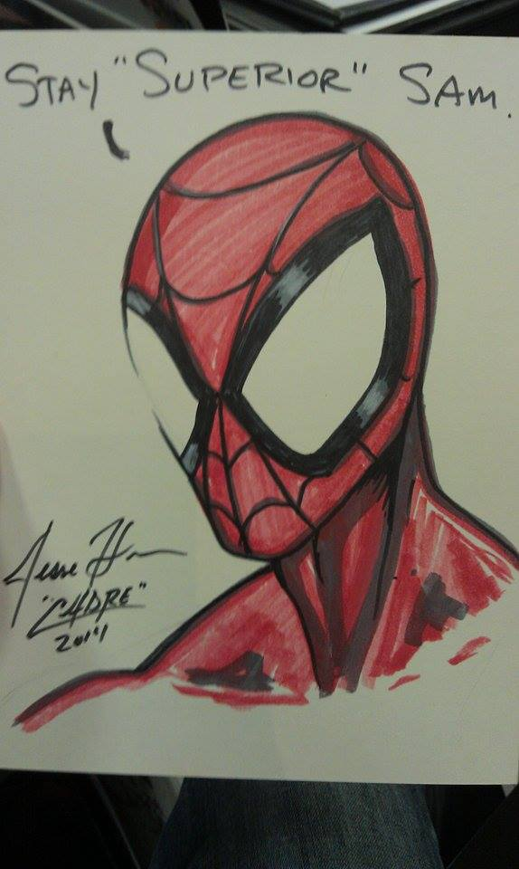 Superior Spidey Sketch I did for a boy at the show by Cadre