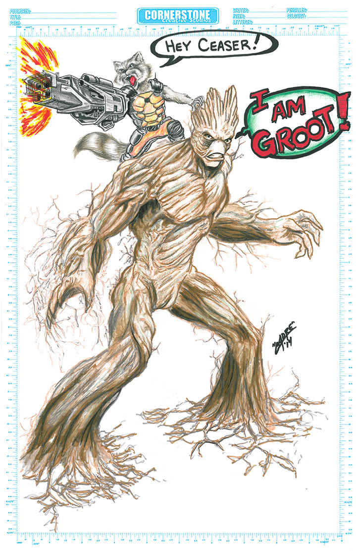 Rocket Raccoon and GROOT by Cadre
