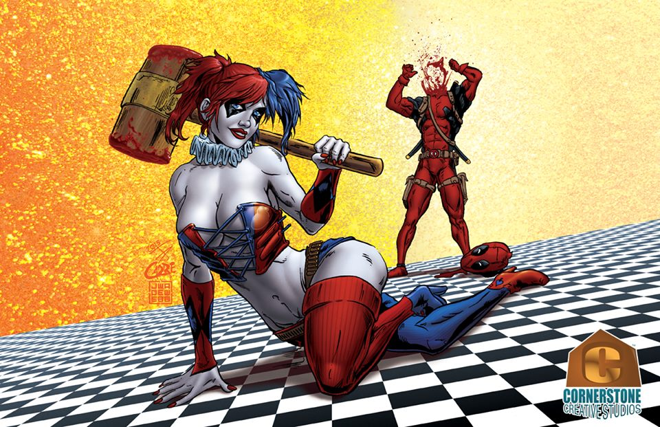 Harley Quinn and Deadpool COLOR by Cadre