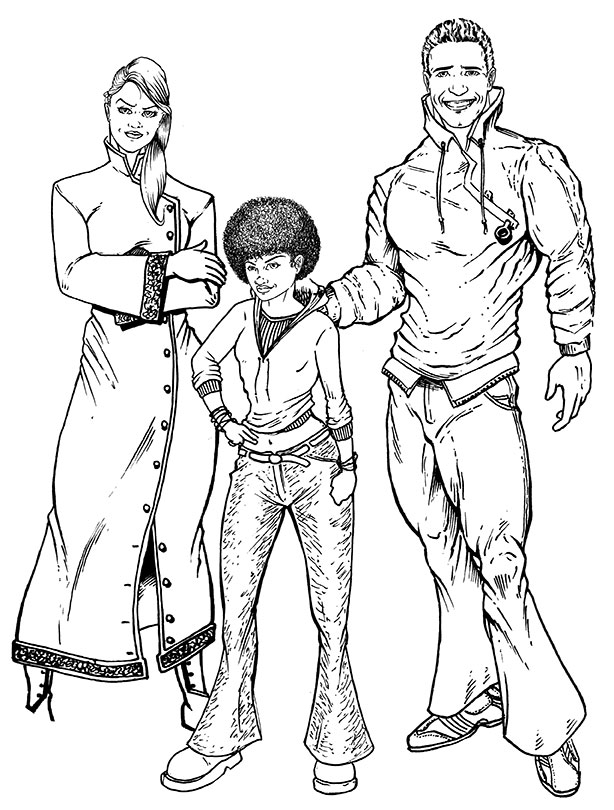 character designs for a client... inks by Cadre