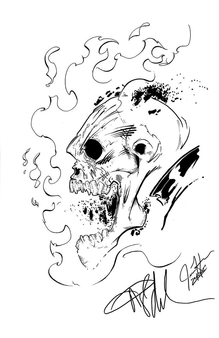 Angel Medina Ghost Rider Inked By Me for Client by Cadre