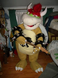 bowser rock star.....XD by dragon1978