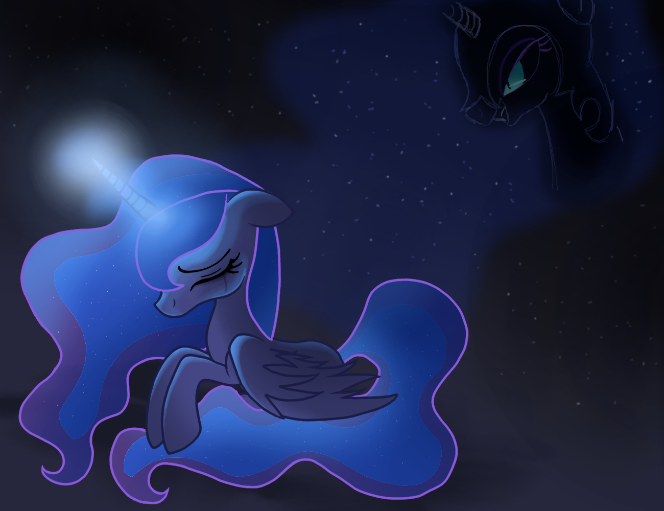 Princess Luna o3o by BeastyxLightning