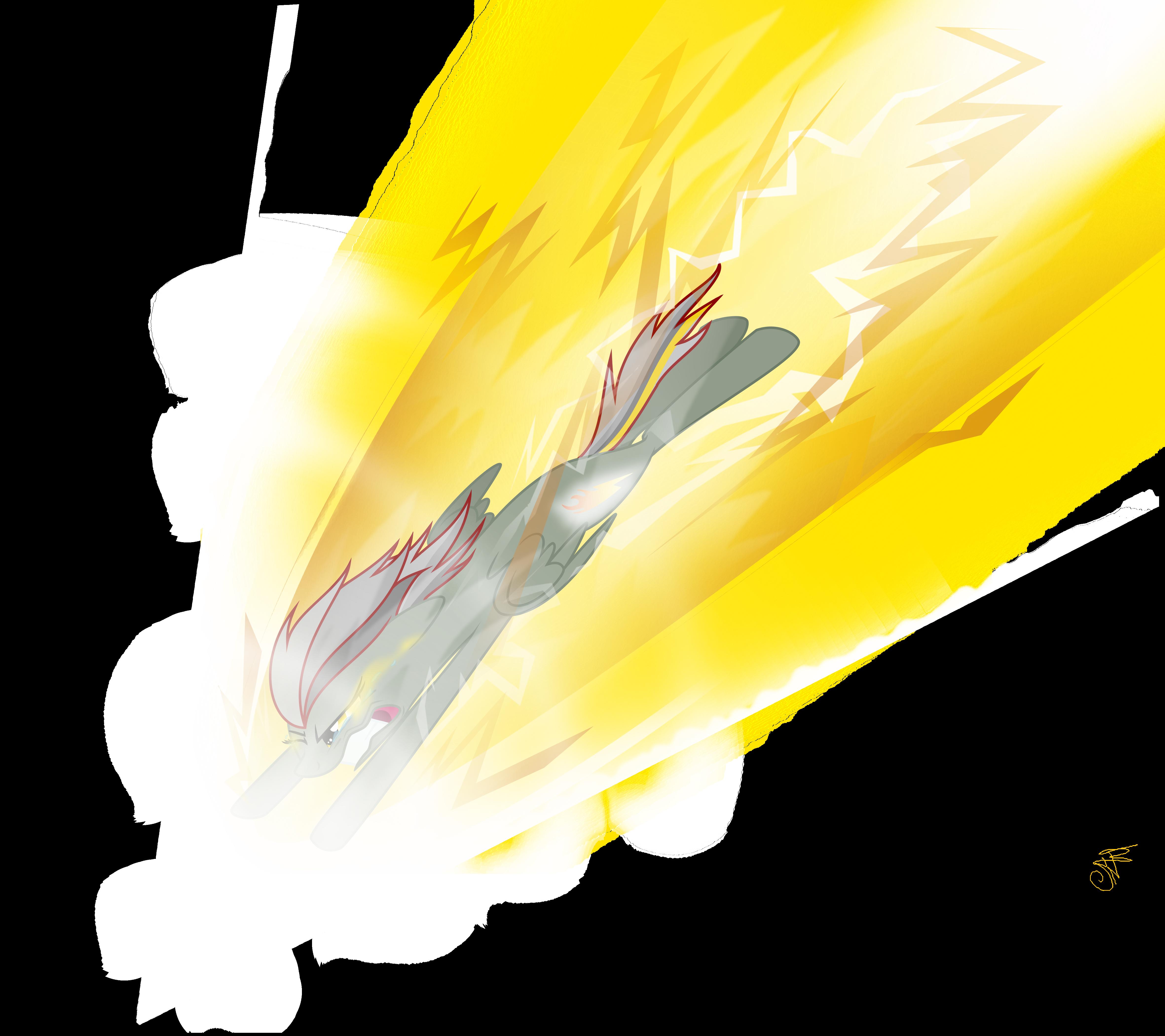 Sonic Thunder Vector By BeastyxLightning