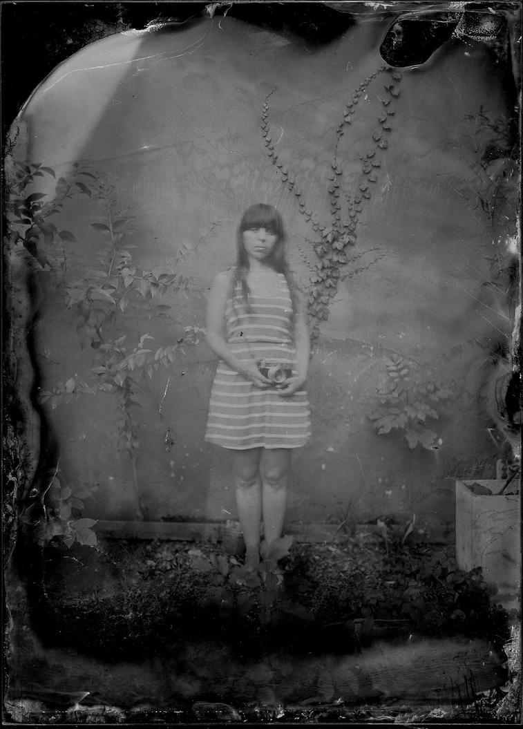 Self portrait with wet collodion process by elultimodeseo