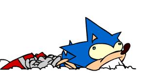 Dumb Running Sonic by CaffeiNix